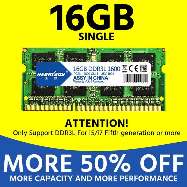 laptop ddr3 16GB 1600mhz 1.35v ram optional Dual channel 32GB 1600mhz ddr 3 notebook