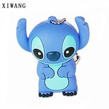 XIWANG USB pen drive cartoon cute blue animal USB2.0 4GB 8GB 16GB 32GB 64GB creative Pendrive memory stick wedding holiday gift