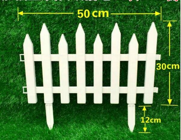 free plastic fence garden white decorated garden