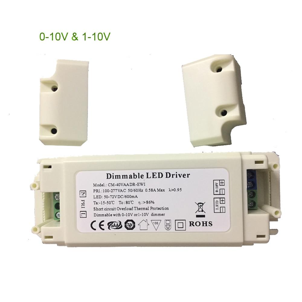 LED Driver Box CC Dimmable With Signal 0-10v 1-10v 300ma 600ma 1000ma 1200ma 1500ma 8W-70W Powered