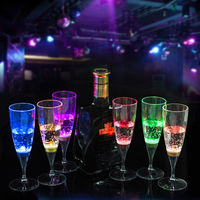 6Pcs Hot Liquid Active LED Champagne Beer Cocktail Wine Water Drink Glass Flash Cup Glow Light