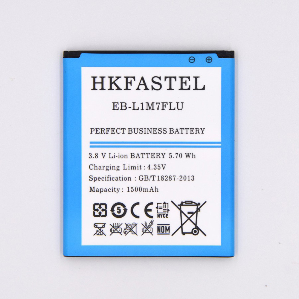 HKFASTEL New EB-L1M7FLU Mobile Phone <font><b>Battery</b></font> Batterie For Samsung <font><b>I8190</b></font> Galaxy S 3 III mini,1500mAh,High Quality image