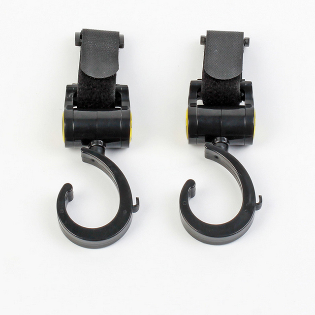 2 PCS/LOT Baby Stroller Accessories Hook Multifunction Baby Stroller Black High Quality Plastic Hook 2