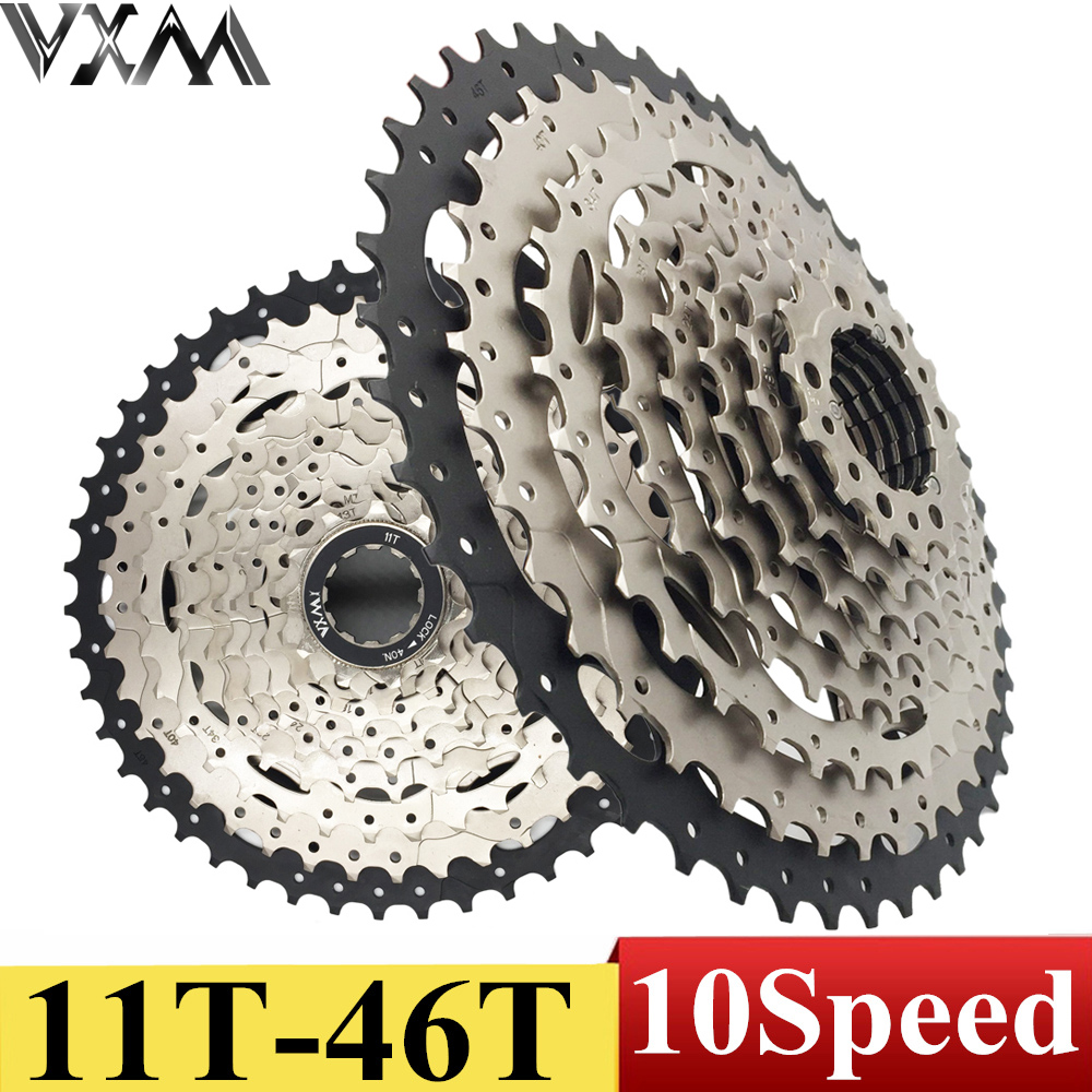VXM Bicycle Flywheel 11-46T 10 Speed 10s Wide Ratio Mountain bike freewheel Cassette Bicycle flywheel Bicycle Parts VXM Bicycle Flywheel 11-46T 10 Speed 10s Wide Ratio Mountain bike freewheel Cassette Bicycle flywheel Bicycle Parts