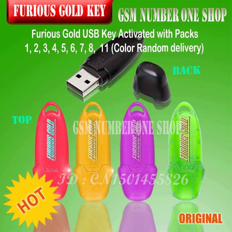 New update Furious Gold USB Key Activated with Packs 1 2 3 4 5 6 7