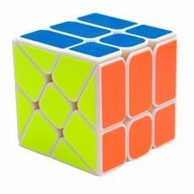 YongJun YJ Hot Wheel 3x3x3 Magic Cube Puzzle For Kids Adults – White/Black Colors