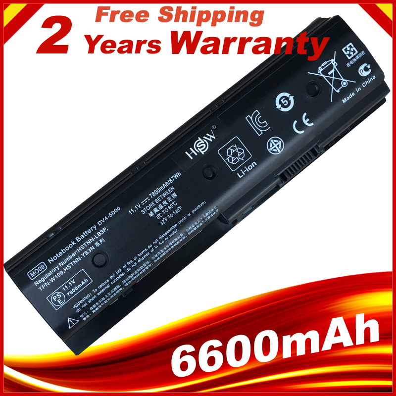 7800mAh High Capacity Battery MO06 For HP Pavilion DV4-5000 DV6-7002TX DV7-7000 HSTNN-LB3N HSTNN-UB3P HSTNN-LB3P 671731-001