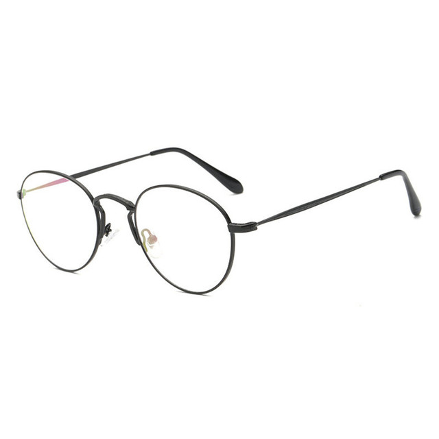 19c8cc6b32 MINCL Men women Round Sunglasses Retro Metal Frame Eyeglasses Korean Optical  Circle Plain Mirror
