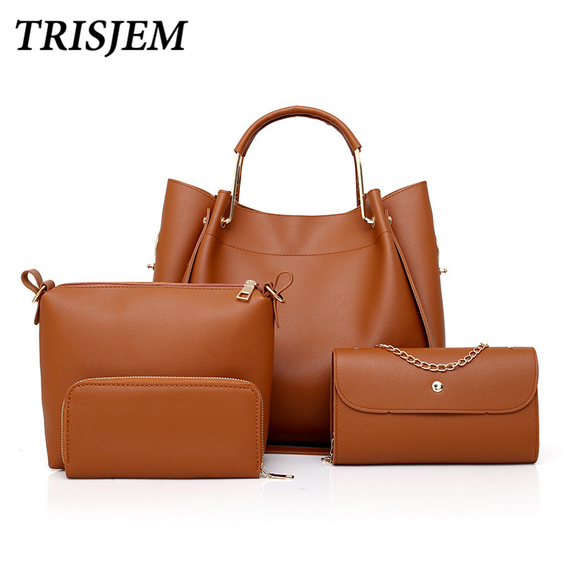 4Pcs/Sets Women Handbags Leather Shoulder Bags Composite Bags women Designer Purses and Handbags Clutch PU Leather Handbags цена