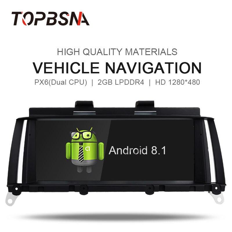 TOPBSNA 8.8 pouces Android 8.1 lecteur DVD de voiture pour BMW X3 F25/X4 F26 2013-2016 moniteur de voiture Autoradio multimédia WIFI GPS Navigation