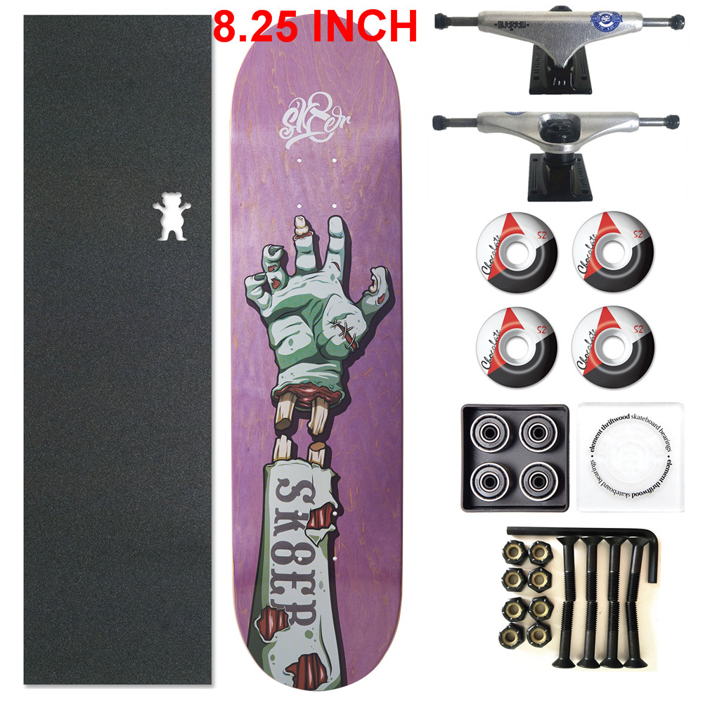 Image 3 - SKATER 1 Set Pro Quality Complete Skateboard Deck 8.25 inch Skate Board Wheels & Trucks Double Rocker Skateboard Parts-in Skate Board from Sports & Entertainment