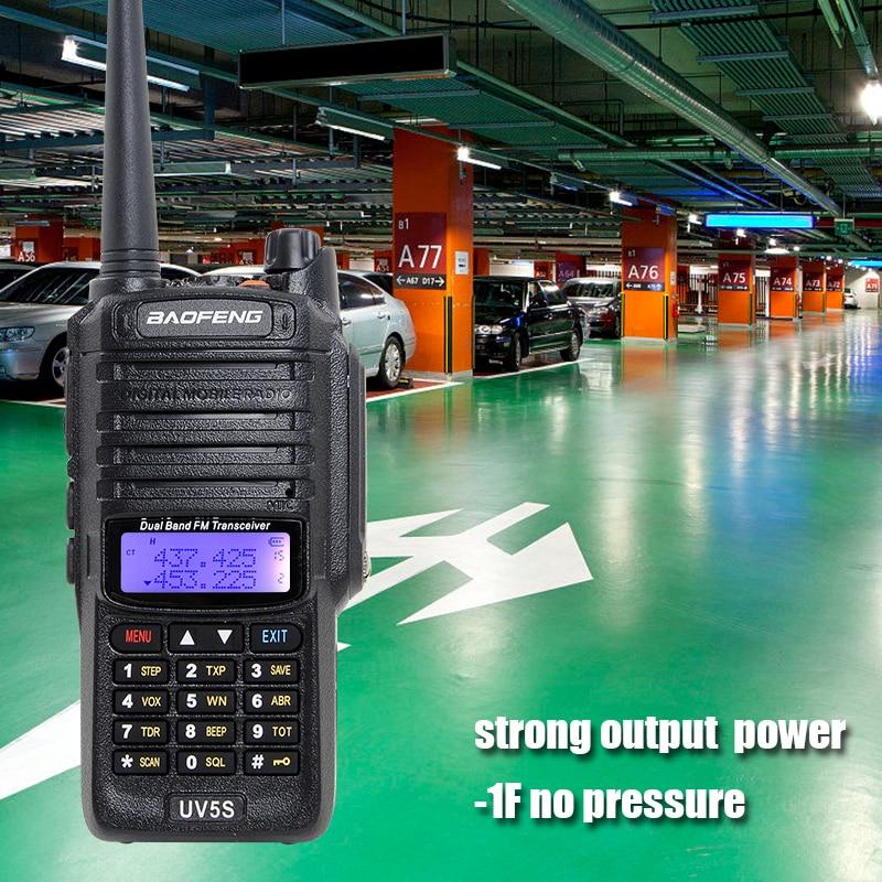 8W waterproof baofeng UV5S walkie talkie 2800mAh battery 10KM Original UV XR GT 3WP UV 5S UV 5R WP Long Range Radio for hunt-in Walkie Talkie from Cellphones & Telecommunications