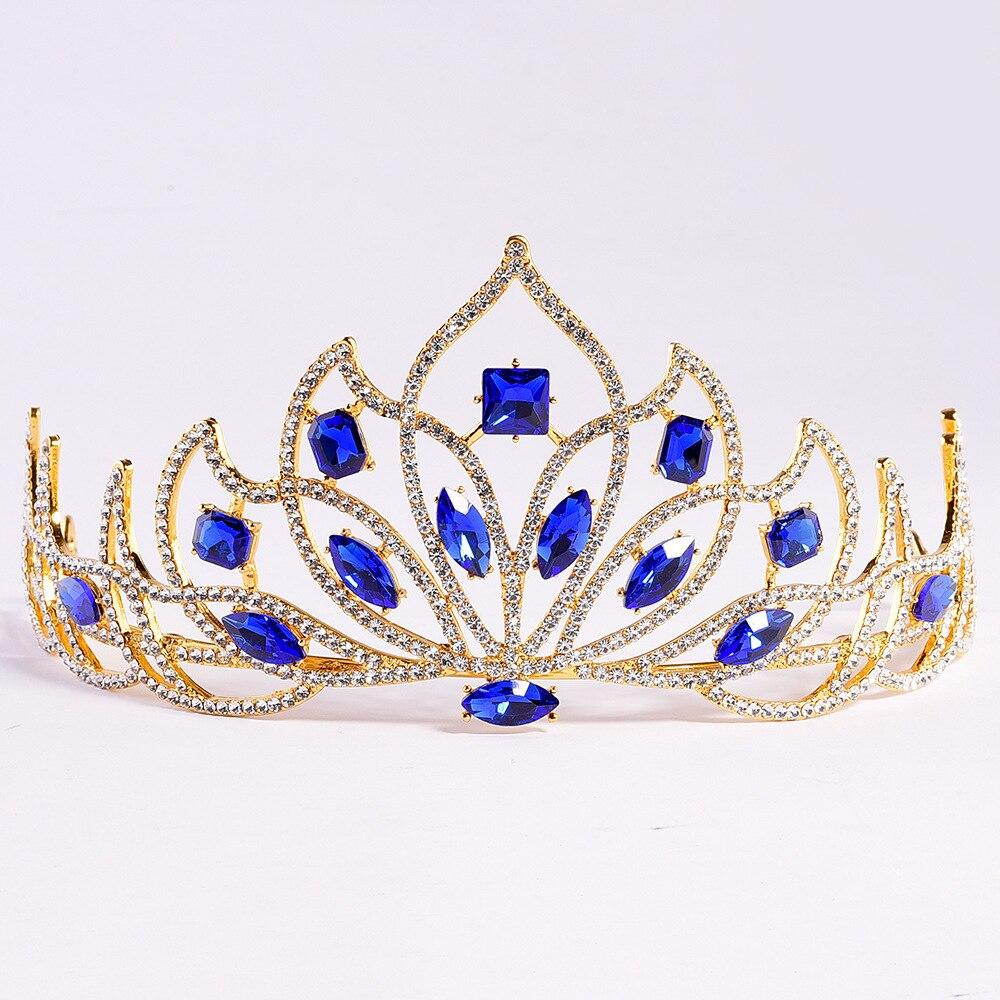 Tiara Princess Headband Jewelry Hair-Accessories Crown Rhinestone Crystal Wedding-Crown