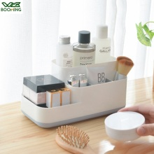 WBBOOMING Plastic Makeup Organizer Bathroom Kitchen Storage Box Cosmetic Organiser Office Desktop Makeup Jewelry Sundry Storage