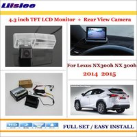 Liislee For Lexus NX300h NX 300h 2014 2015 4.3 TFT LCD Monitor + Car Rearview Back Up Camera = 2 in 1 Car Parking System