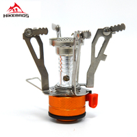 HIKEBROS Camping Stoves Gas Mini Backpacking Canister Stove Foldable Gas Burners By Stainless Steel Outdoors Hiking