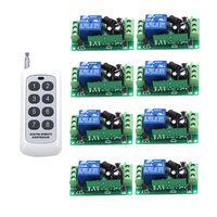 24V DC 10A Relay Receiver Transmitter Light Lamp LED Remote Control Switch Power Wireless ON OFF Key Switch Lock Unlock 315/433