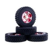 4pcs DC 1 9 1 9 Inch RC Crawler Truck Tires W Aluminium Alloy Wheel Hub