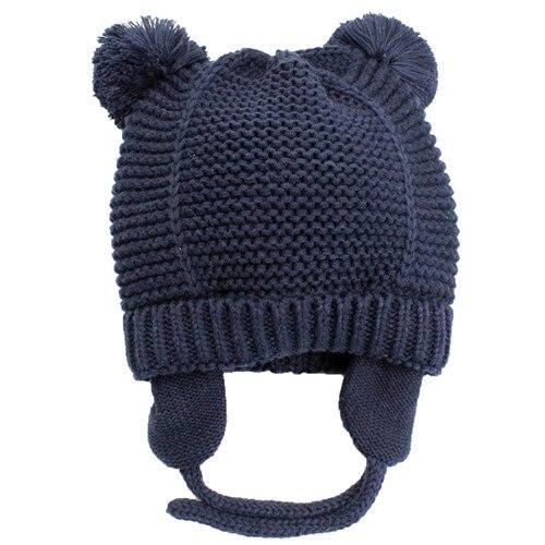 Bear Ears Style Baby Winter Hat Soft Cotton Newborn Ear Double Layer Beanie