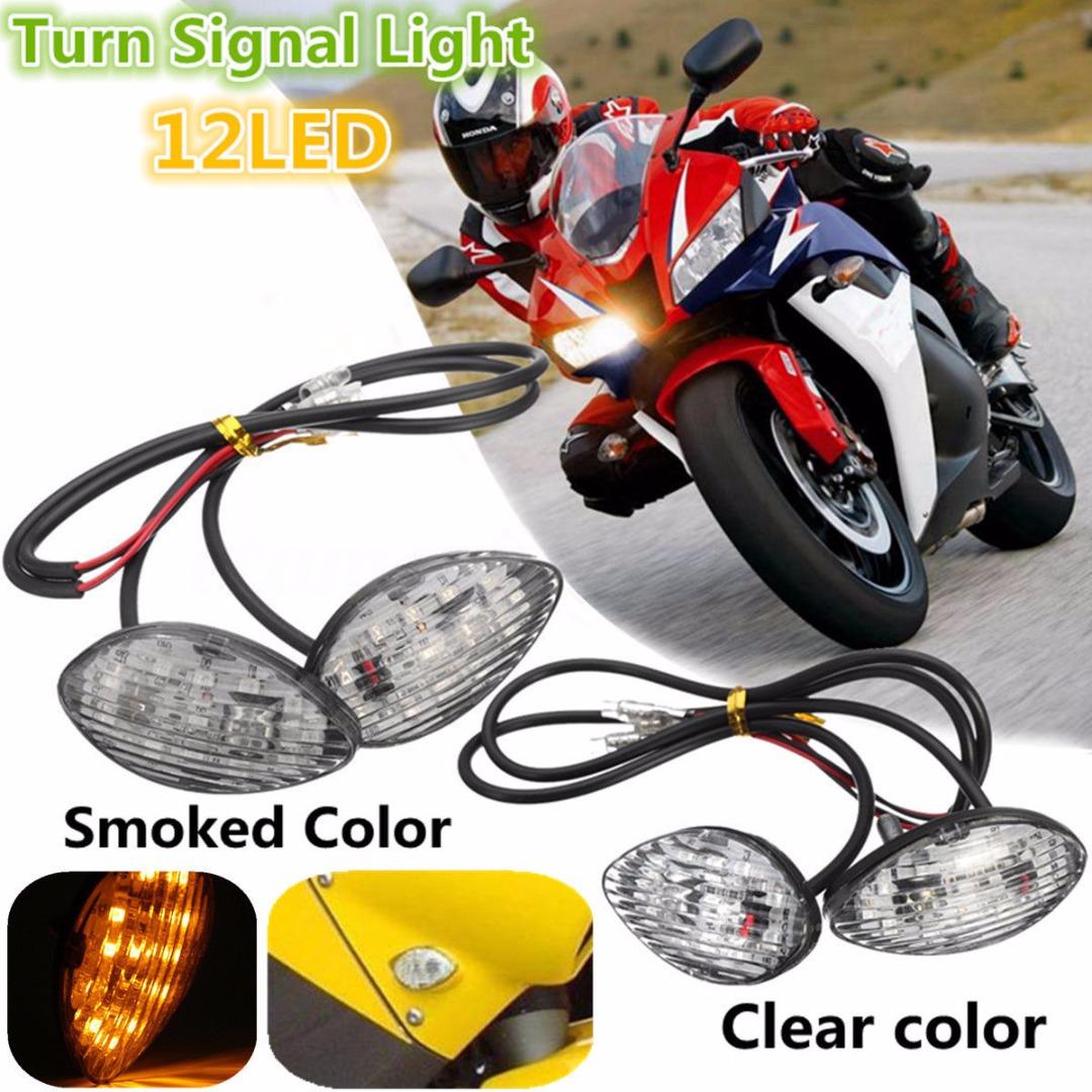 2X 12LED Flush Mount Turn Signal Indicator Light For Honda CBR 600RR 03-11 CBR 600F4I