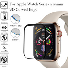 New Full Cover Tempered Glass For Apple Watch band Series 4 40mm 44mm Screen Protector iwatch 3/2/1 42mm 38mm 3D curved 2018 for iwatch screen protector film full cover 3d curved soft edge tempered glass for apple watch band 42mm 38mm series 3 2 1