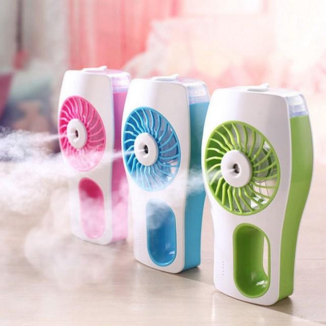 3 Colores Cuidado de La Piel Portátil de Ambientadores de Aire Del Ventilador de Refrigeración ventilador Con Difusor De Aceite Funciona con 18650 Baterías VBU09 T15 0.5