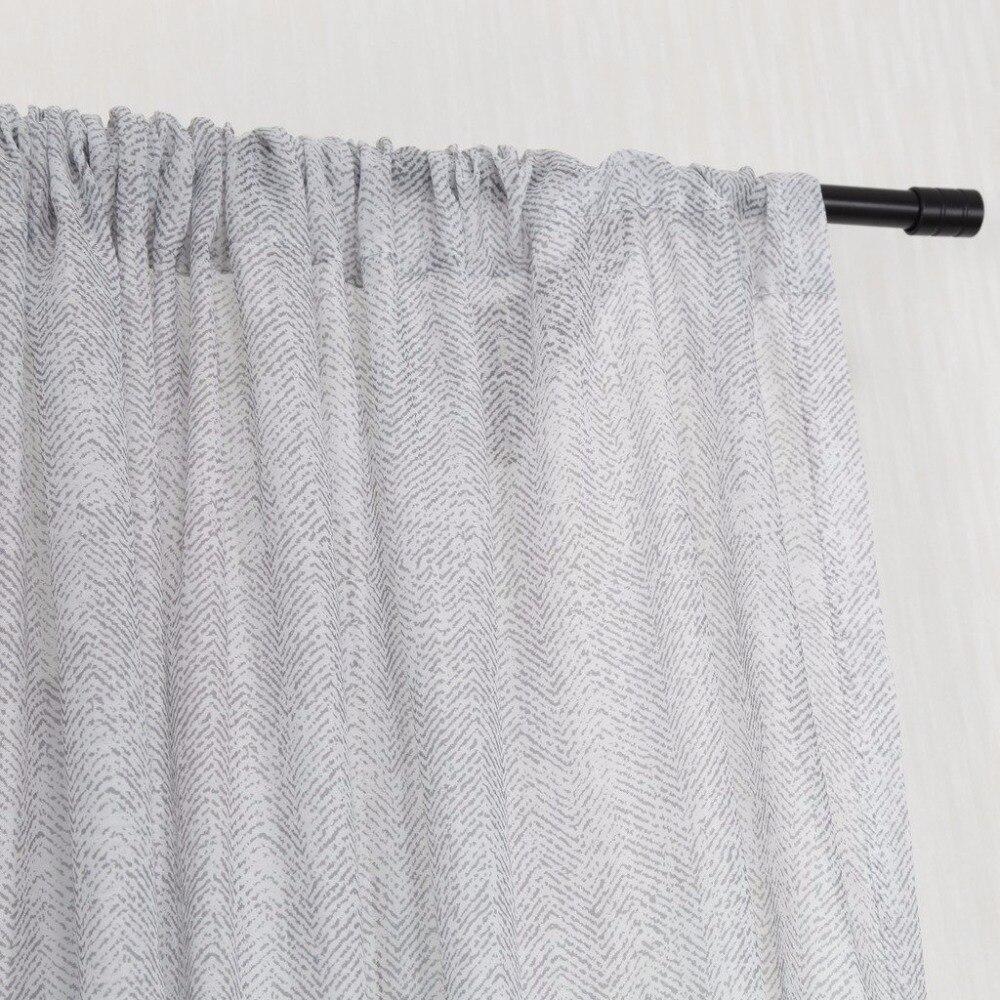 NICETOWN One Pair Zig zag Chevron Pattern Sheer Window Curtains ...