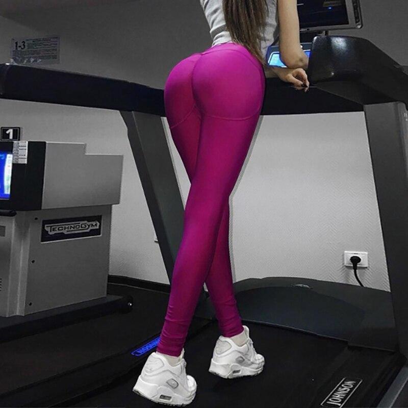 Acheter Taille haute Hip Push Up Femmes Leggings Haute Élasticité Slim Fitness Femmes Pantalon Respirant Sportives Leggings 2 Couleurs Disponibles de Yoga Pantalon fiable fournisseurs