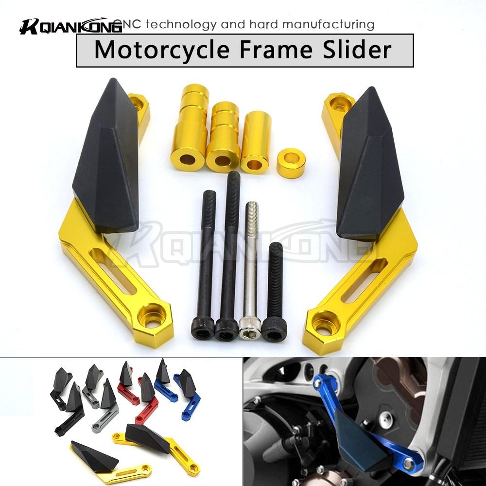 R QIANKONG For Yamaha MT 09 MT09 MT-09 2013-2015 Frame Slider Motoecycles Crash Pads Protect Motorbike Falling Protector