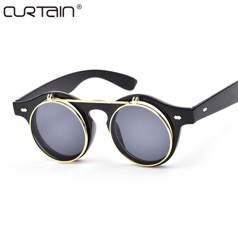 Módní retro sluneční brýle dámské značkové retro sluneční brýle ženské brýle parní punkové zrcadlo Oculos De Sol