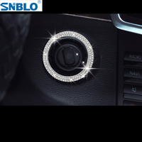 Car Accessories For Mercedes Benz GLC 200 260 2016 2017 2018 Engine Start Ring Trim Free With A Towel