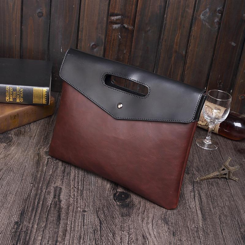 Crazy Horse PU Leather Men's Handbags Clutch Handbag Business Pack Briefcase Messenger Bag Oficina Document Bag envelope Package pu taburete silla de oficina giratorio ajustable plegable ergonomica diseno hw51439