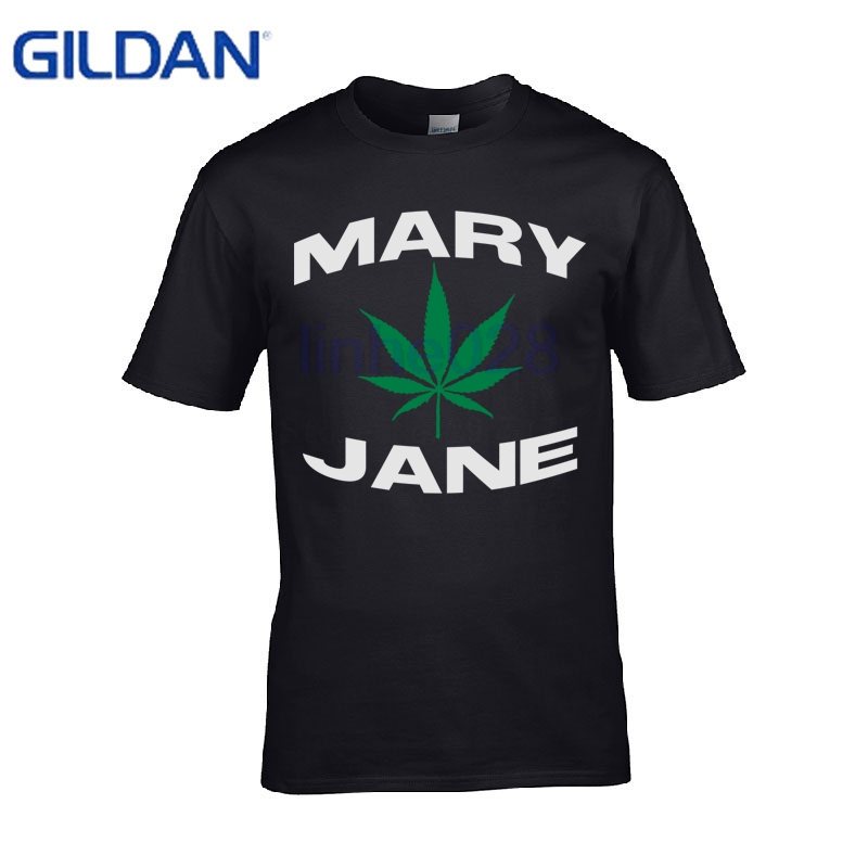 mary jane weed fun life joint bong pot t shirt  Casual  cotton  tshirt cotton  S-4XL  Top  men's t-shirt cotton plus size S-4xl