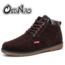 Ковбойские ботинки Для мужчин хлопок Ткань осень Мужские зимние сапоги ботильоны с круглым носком для Для мужчин легкий Обувь bota Masculina