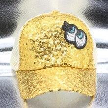 2019 New Fashion Children Sequined eye Net Cap Baseball Cap Hat Boys Girls Kids Snapback Hats Hip Hop Caps Gorras все цены