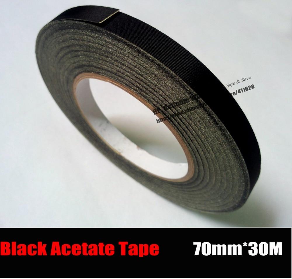 (70mm*30M) Insulation Black Acetate Cloth Tape, High Temperature Resist, LCD Screen Repair boegli m 70
