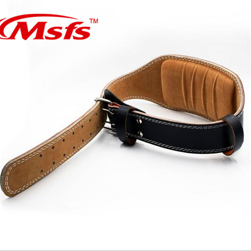 Weightlifting Belt Cowhide Leather Men Lumbar Protection Gym Fitness Training Squats Powerlifting Back Weight Lifting Belts