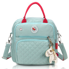 Mamma bleiepose Vanntett Nylon Baby Nappy Bag Kvinner Reise Backpakc til Baby Nursing Maternity Bag bolsa maternidade 4 Farger