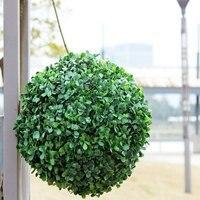 5pcs Artificial Green Hanging Grass Plant Ball Ornament Party Decoration Garden Home Decor DIY 30cm
