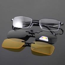 Оправы для очков Очки Для мужчин Для женщин очки Рамки Оправы для женских очков clip-on Солнцезащитные очки для женщин поляризационные Защита от солнца Очки желтый Ночное видение