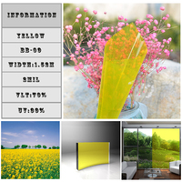 75 Gold Yellow Window Sticker 1 52 10m Roll Self Adhesive Building Window Home Window Tints