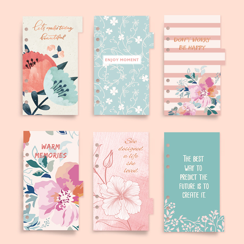 купить Never Flower Series Notebook Accessories Planner Index Pages Dividers Diary Refills Creative Gift Stationery School Supplies по цене 477.94 рублей