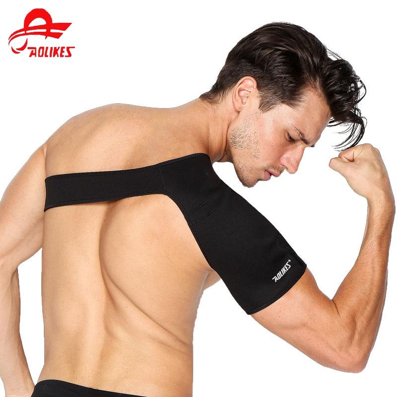 Support Brace Back Strap Wrap Belt Band Pads Single Shoulder Adjustable Breathable