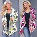 Aliexpress EBAY Европа горячие взрыва модели нерегулярные печатных вязаный кардиган пальто женщина
