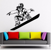 Art  Wall Sticker Snowboard Extreme Sports Room Decoration Vinyl Removeable Mural Athlete Poster Player Winter LY153