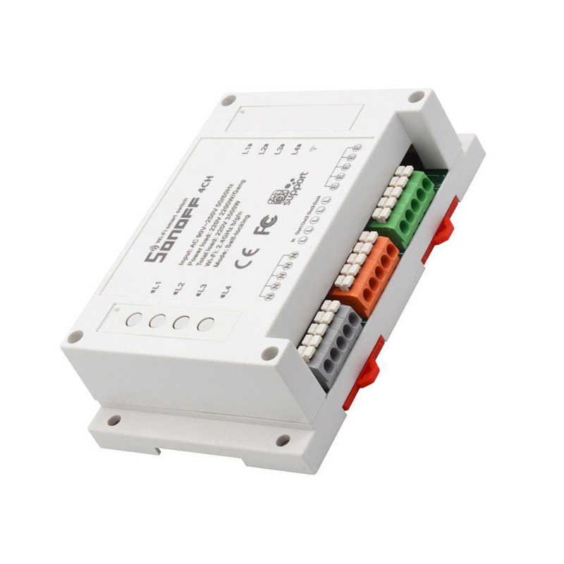 Sonoff 4CH Pro 4 sposób montażu WiFI bezprzewodowy inteligentny przełącznik 433MHZ zdalnego sterowania bezprzewodowy przełącznik z nami