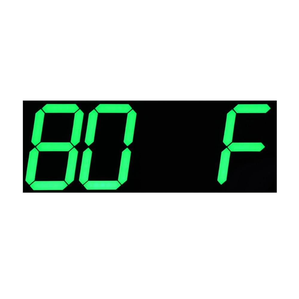 Yaşıl LED Təqvim Temperaturu Ekranı Uzaqdan İdarəetmə Sayı - Ev dekoru - Fotoqrafiya 2