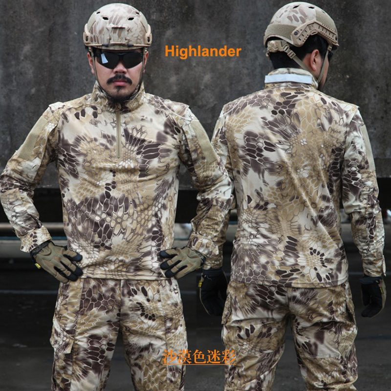 Kryptek Black US Military Camouflage Sets Plus Size Men Military Uniforms Tactical Suit Quality Outdoor Jungle Hunting Camou Set kryptek mandrake frog fighting suit police frog uniforms army trainning uniform set one long sleeve shirt and one tactical pant