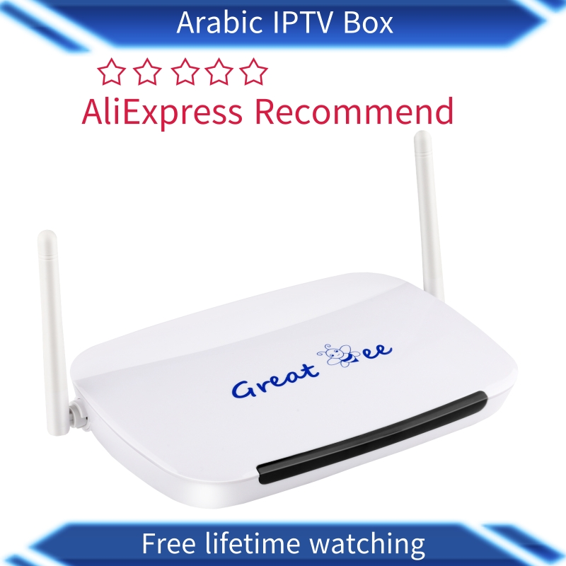 Great ee 2019 Free shipping No monthly payment best great bee Arabic IPTV box Around 400