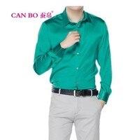 Новинка 2018 Длинные рукава полноценно коммерческий шелк тутового шелкопряда рубашки мужские cultivate One's morality рубашка мужской XS 6 XL